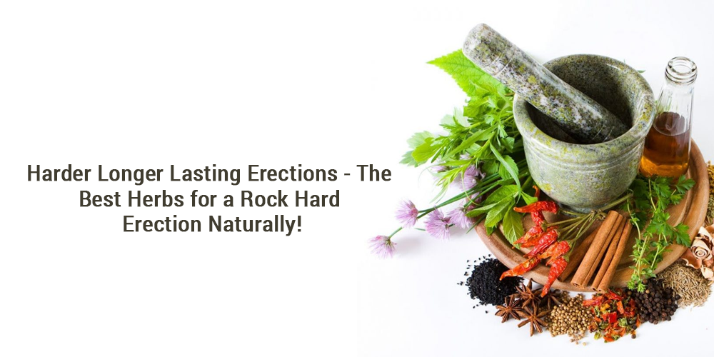 Harder Longer Lasting Erections - The Best Herbs for a Rock Hard Erection Naturally!